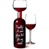 Wine Bottle Glass 750ml (Single)