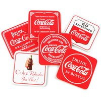 Coca Cola Coasters (Pack of 6) - Coca Cola Gifts