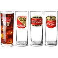 Coca Cola Hiball Glasses 16.9oz / 480ml (Set of 4) - Drinkstuff Gifts