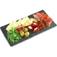 Small Rectangular Slate Platter 25 x 13cm (Pack of 6) - Africa Gifts