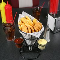 Retro French Fry Cone with Sauce Dippers (Case of 8) - French Gifts