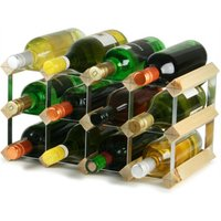 Traditional Wooden Wine Racks - Pine (2x4 Hole [12 Bottles]) - Drinking Gifts