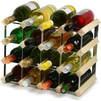Traditional Wooden Wine Racks - Pine (3x4 Hole [16 Bottles]) - Drinking Gifts