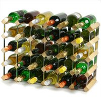 Traditional Wooden Wine Racks - Pine (4x6 Hole [30 Bottles]) - Drinking Gifts