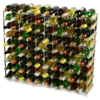 Traditional Wooden Wine Racks - Pine (8x10 Hole [90 Bottles]) - Drinking Gifts