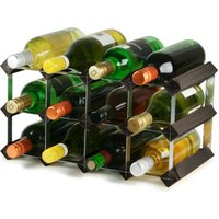Traditional Wooden Wine Racks - Black Ash (2x4 Hole [12 Bottles]) - Drinking Gifts