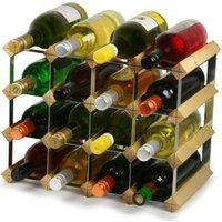 Traditional Wooden Wine Racks - Light Oak (3x4 Hole [16 Bottles]) - Drinking Gifts
