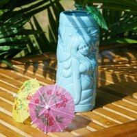 Blue Mermaid Ceramic Tiki Mug 14oz / 415ml (Single) - Mermaid Gifts