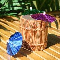 Ceramic Rum Barrel Tiki Mug 12oz / 355ml (Set of 4) - Rum Gifts