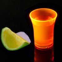 Econ Neon Orange Polystyrene Shot Glasses CE 0.9oz / 25ml (Case of 100) - Shot Glasses Gifts