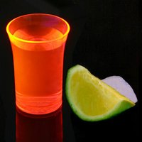 Econ Neon Orange Polystyrene Shot Glasses CE 1.25oz / 35ml (Case of 100) - Shot Glasses Gifts