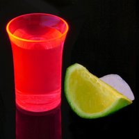 Econ Neon Red Polystyrene Shot Glasses CE 1.25oz / 35ml (Case of 100) - Shot Glasses Gifts