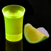 Econ Neon Yellow Polystyrene Shot Glasses CE 1.25oz / 35ml (Case of 100) - Shot Glasses Gifts