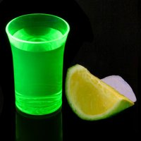 Econ Neon Green Polystyrene Shot Glasses CE 1.25oz / 35ml (Case of 100) - Shot Glasses Gifts