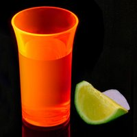 Econ Neon Orange Polystyrene Shot Glasses CE 1.75oz / 50ml (Case of 100) - Shot Glasses Gifts