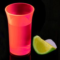Econ Neon Red Polystyrene Shot Glasses CE 1.75oz / 50ml (Case of 100) - Shot Glasses Gifts