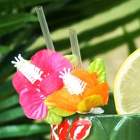 Tiki Island Flower Straws (Pack of 6) - Flower Gifts