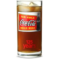 Coca Cola 125th Anniversary Hiball Glass 9.2oz / 260ml (Pack of 6) - Coca Cola Gifts