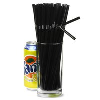 Bendy Straws 8inch Black (Box of 250) - Black Gifts