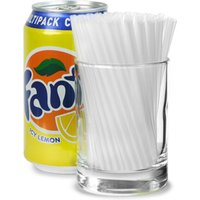 Frappe Cocktail Straws 4inch Clear (Box of 1000) - Box Gifts