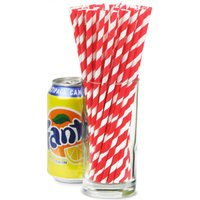 Red & White Striped Paper Straws 8inch (Pack of 25) - Gadgets Gifts