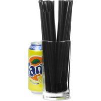Spoon Straws 8inch Black (Box of 200) - Box Gifts