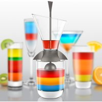 Rainbow Cocktail Layering Tool - Alcohol Gifts