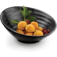 Sloped Melamine Serving Bowl Black 14inch - Bowl Gifts