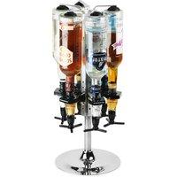 Deluxe Chrome Bottle Carousel & Measures - Chrome Gifts