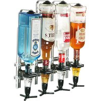 Click to view product details and reviews for Wall Mounted 4 Bottle Measure Bracket Bracket With Spirit Measures.