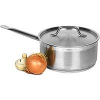 Genware Stainless Steel Saucepan & Lid 5ltr