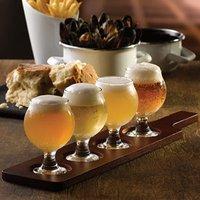 Wooden Tasting Paddle with Belgium Beer Taster Glasses - Beer Gifts