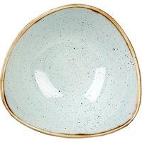 Churchill Stonecast Duck Egg Triangular Bowl 15.3cm (Single) - Bowl Gifts