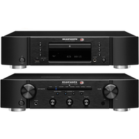 Marantz CD6006 UK Edition CD player and PM6006 UK Edition integrated amplifier with digital input in Black