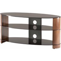 Alphason ARC800 Accord Table Stand in Black with Walnut Sides for Screens up to 37