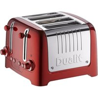 Buy Dualit 4 Slot Lite Metallic Toaster in Red - Electricshopping.com