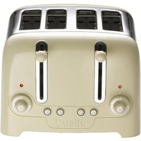 Buy Dualit 46202 4 Slot Lite Peek N Pop Toaster in Gloss Cream - Electricshopping.com
