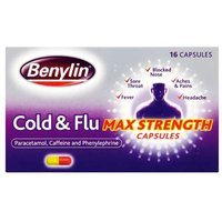 Benylin Cold & Flu Max Strength Capsules (16)