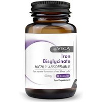 Vega Iron Bisglycinate 50mg Non Constipating (30 V-Caps)