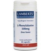 Lamberts L-Phenylalanine 500mg 60 capsules