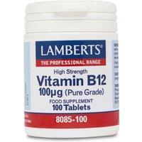 Lamberts Vitamin B-12 100mcg 100 tablets
