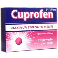 Cuprofen Ibuprofen Tablets Maximum Strength (24)
