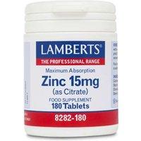 Lamberts Zinc 15 mg (as citrate) (180)