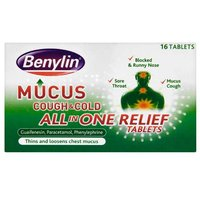 Benylin Mucus All in One Relief Tablets 16