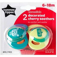 Tommee Tippee Decorated Green/Yellow Cherry Soothers (6-18 Months) 2