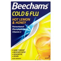 Beechams Cold and Flu Hot Lemon and Honey 5 Sachets