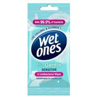 Wet Ones Be Gentle Wipes 12