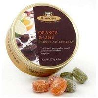 Simpkins Orange & Lime Chocolate Centres Travel Sweets 175g (6.1oz)