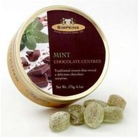 Simpkins Mint Chocolate Centres Travel Sweets 175g (6.1oz)