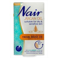 Nair Argan Oil Facial Brush-On Hair Remover 50ml